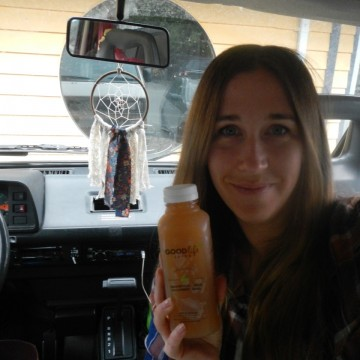 """""""Lady Luxe"""" juice I brought along with me to Tofino"""