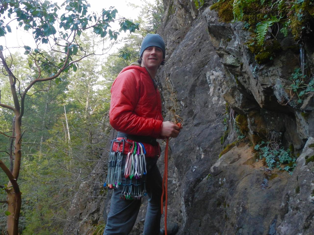 Rock climbing near Victoria